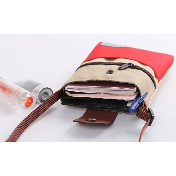 ~NewDemand ~NewLife ㊝方包撞色 側肩斜背包壓扣拉鍊背帶收納包皮革置物包
