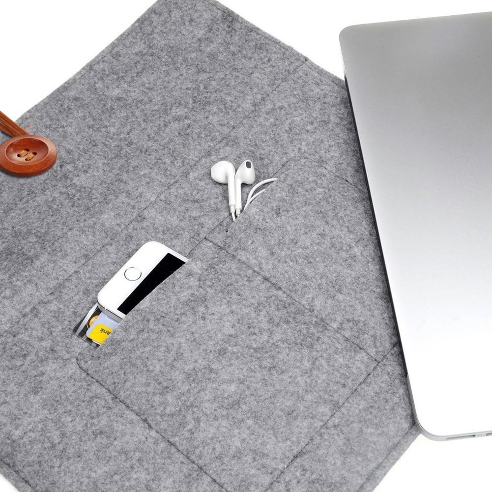 10 15 寸羊毛氈平板筆記型電腦 蘋果戴爾聯想華碩東芝三星宏基惠普內膽包紐扣款
