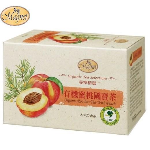 即享萌茶洋行曼寧有機蜜桃國寶茶20 茶包盒有機 南非國寶茶系列花果茶無咖啡因