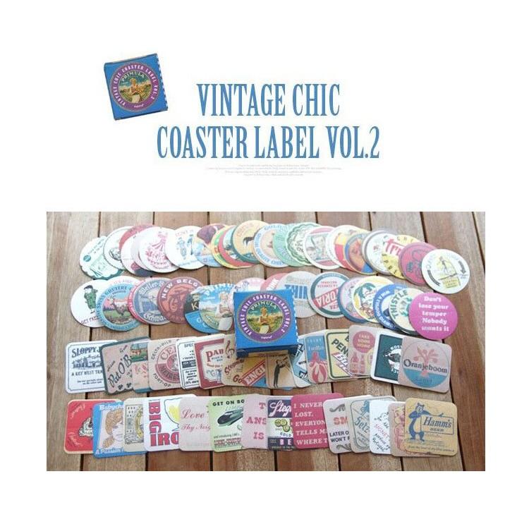 〖SNOW PEN 〗Vintage 藍色複古盒裝老式英倫標簽/手帳貼紙(一盒70 枚入)
