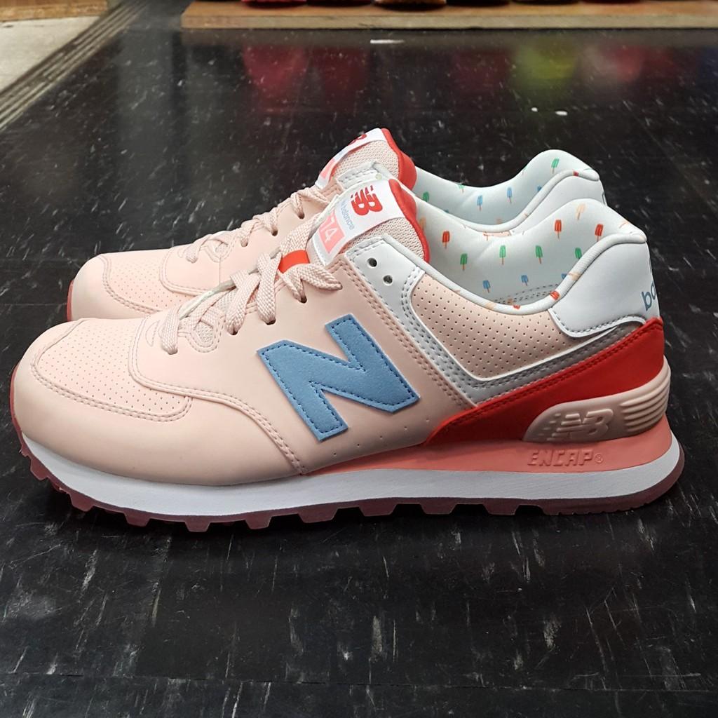 new balance 574 nb WL574BWB 粉紅色粉橘色珊瑚橘粉色白色冰棒馬卡