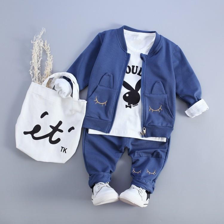 男女童寶寶 秋裝兔子三件式套裝賣場滿千打九折