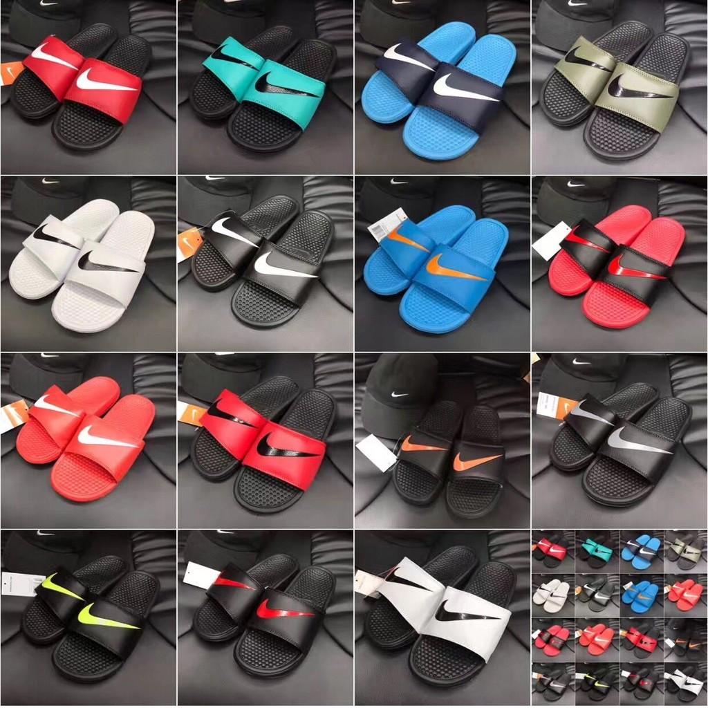 Nike Benassi Swoosh Classics GD 黑白權誌龍防水 拖鞋情侶鞋