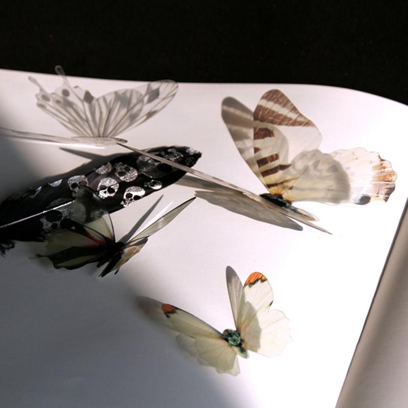 HomePlus 3D 夢幻蝴蝶白色18 入組立體壁飾壁貼裝飾婚禮小物