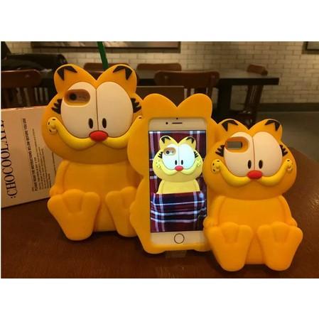 2016 年新的3D 卡通貓加菲貓 柔軟的矽膠套手機套iPhone6 plus 5s SE