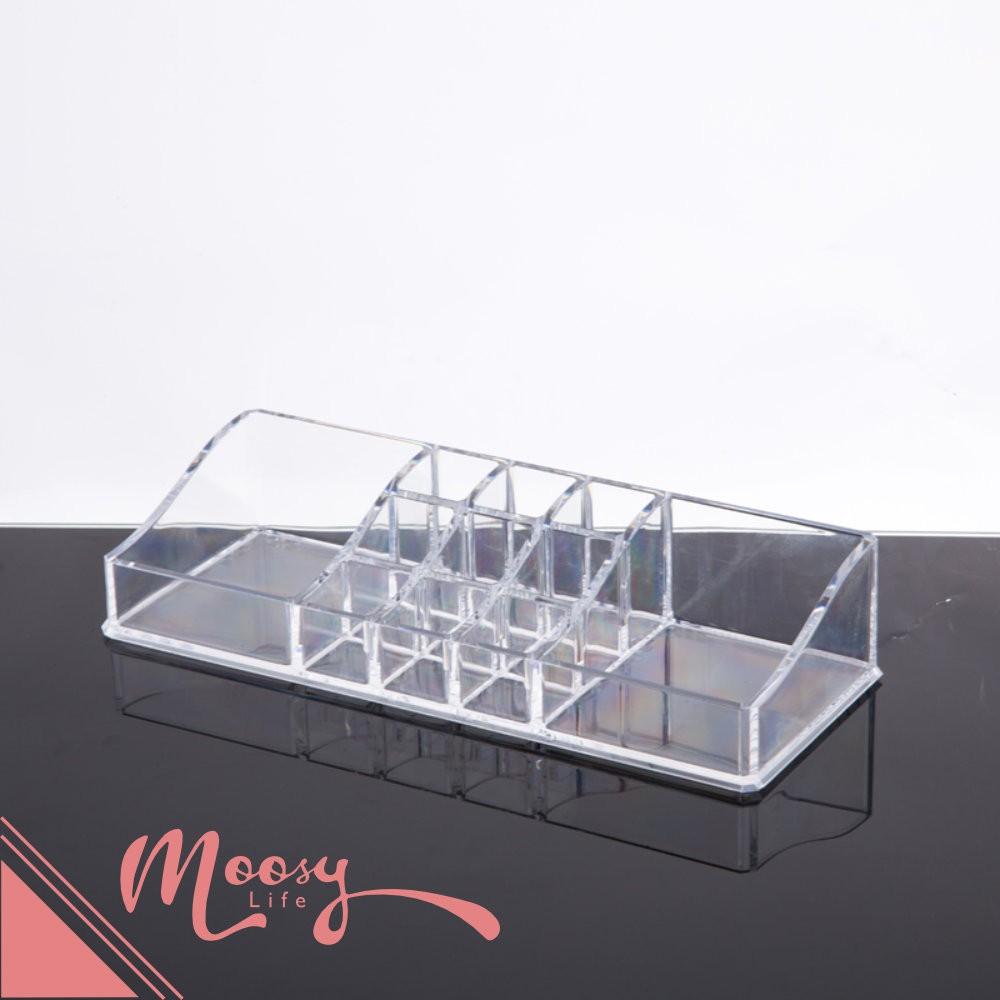 收納盒 款桌上型 水晶透明化妝品保養品化妝盒收納盒ADD 6103