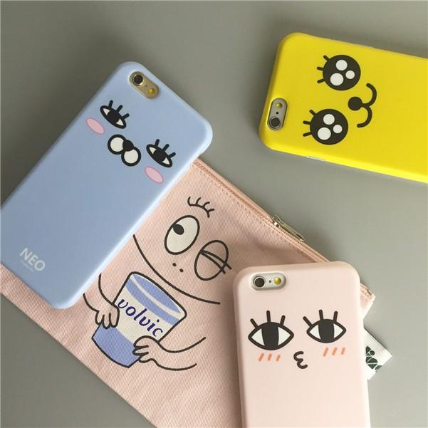 韓國超可愛表情大眼睛IMD 不掉色工藝磨砂軟殼全包蘋果iPhone6 6Plus 6S 6