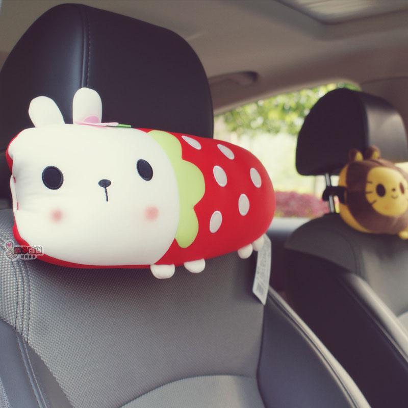 樂多 動物派對車用頭枕午睡枕輕量透氣非海綿寶寶派大星拉拉熊麵包超人三眼怪毛怪豆豆龍史迪奇史
