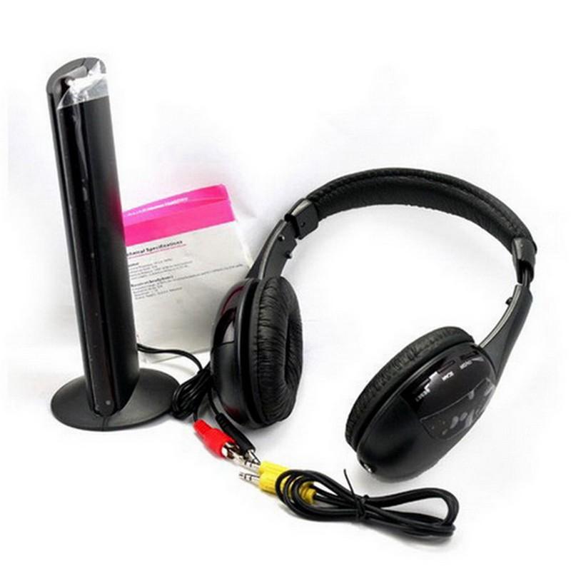 5 合1 無線射頻HiFi 耳機調頻耳機耳麥電視電腦DVD VCD MP3 收音機