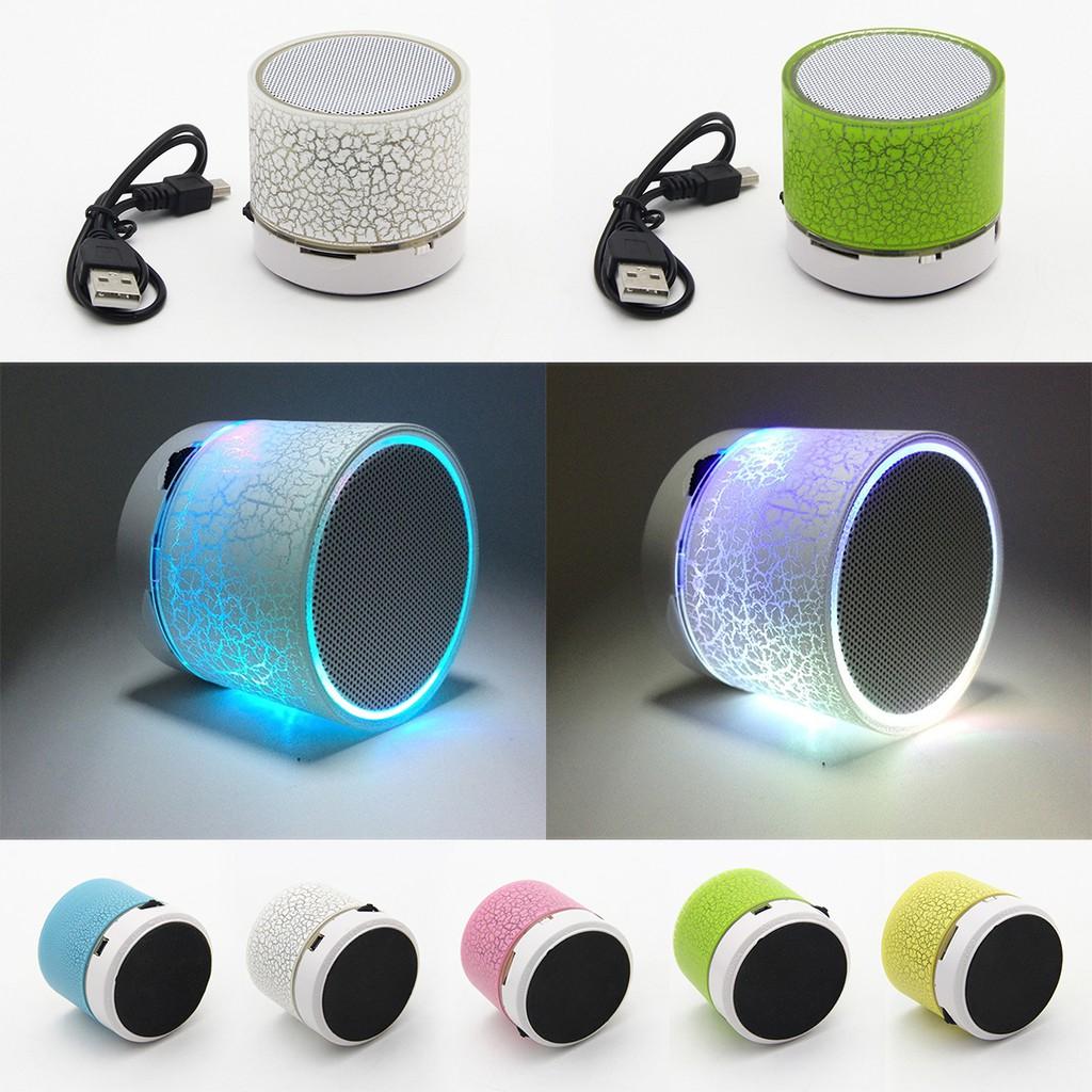 藍牙Mini 音箱喇叭爆裂紋 LED 無線音響USB TF