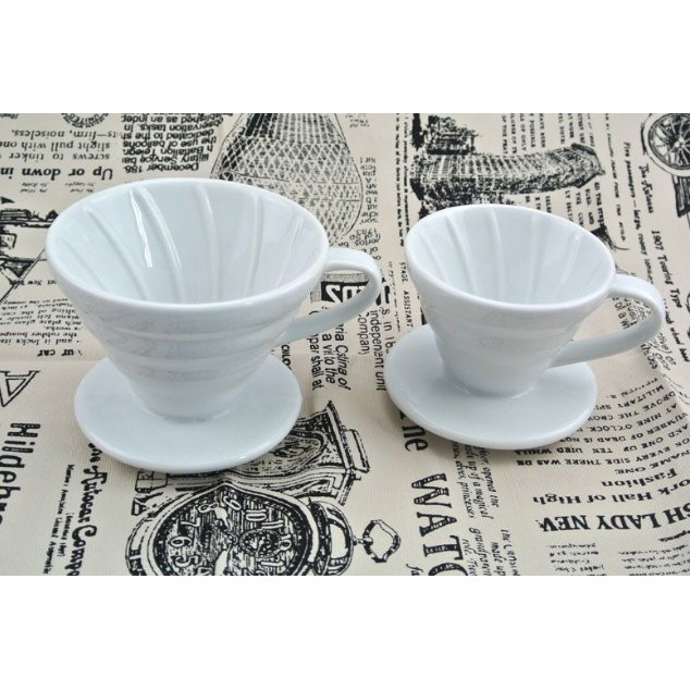 ~咖啡暢貨中心~ 價 V 型手沖陶瓷圓錐咖啡過濾杯1 ~2 杯與2 ~4 杯~非HARIO