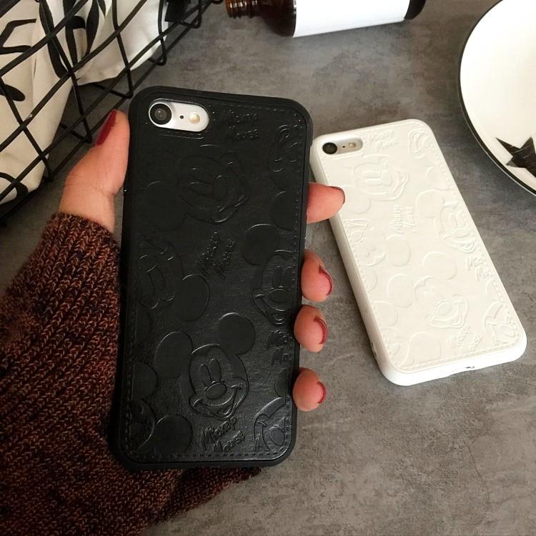 米奇壓紋皮質iphone6 6plus iphone7 7plus 手機保護套手機殼手機套