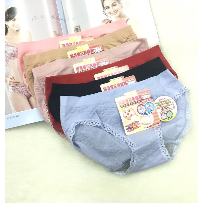 Q O 棉混緹花無縫褲無痕著用2389 製爆乳胸罩賣場 男女韓式美式 製內衣褲睡衣背心發熱