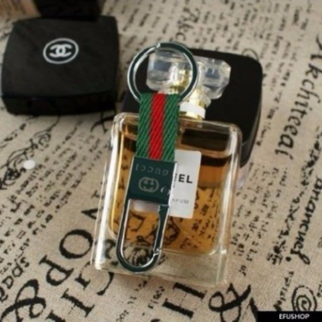 紅綠條紋GUCCI 鑰匙圈汽車鑰匙釦專櫃贈品 無盒 滿888 免