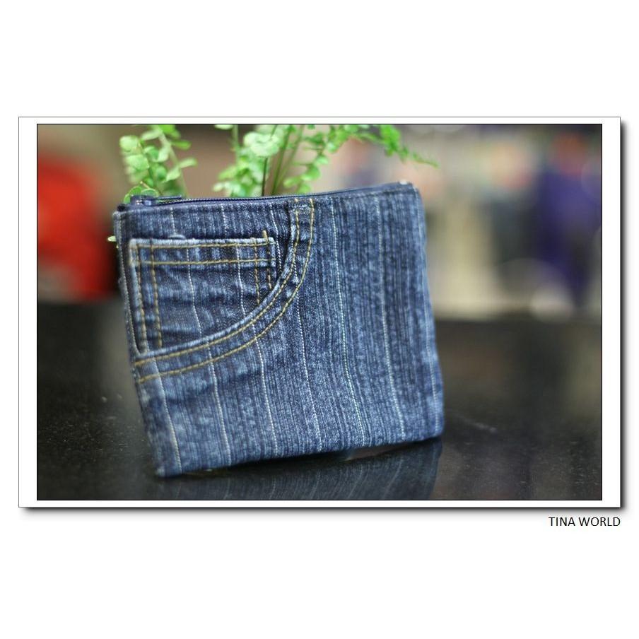 ~~ 縫製~~原創布藝零錢包、錢包、收納包牛仔口袋款後拉鍊