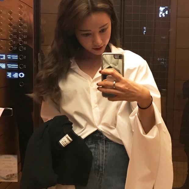 ~ ~ 價▲襯衫▲2017 春裝 stylenanda 純棉長袖開叉裝飾襯衣 潮流 學生韓