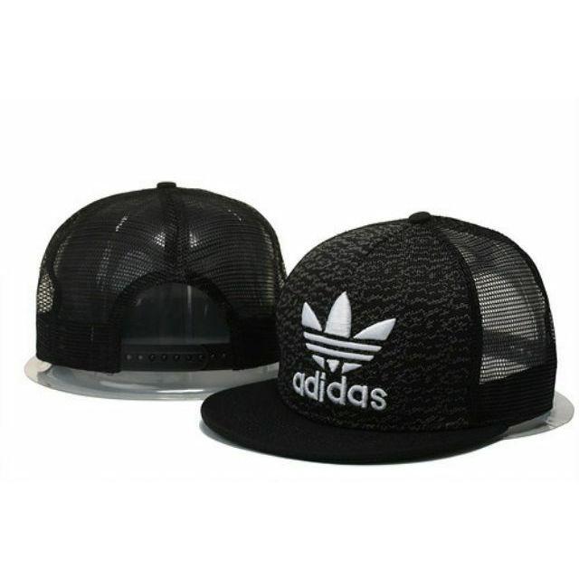 ✨刺繡標半罩網帽adidas 愛迪達斯三葉草帽子棒球帽平沿帽嘻哈帽潮流帽黑色白色紅色藍色灰