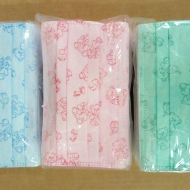 幼幼,兒童台製藍鷹牌平面寶貝熊口罩,兒童款,幼幼款,50 片110 元盒裝