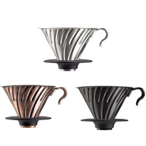 ~沐湛咖啡~ HARIO V60 金屬濾杯VDM 02 BC 黑色金屬濾杯