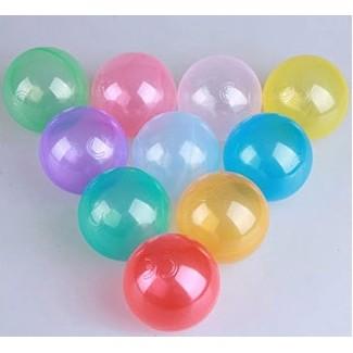 ~紅海~6 5CM CE 不挑色透明彩色球池兒童海洋球水晶球20 顆裝120 元