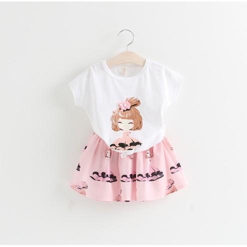 套裝 甜美女孩兒雪紡裙AF50552 Baby 衣顏堂