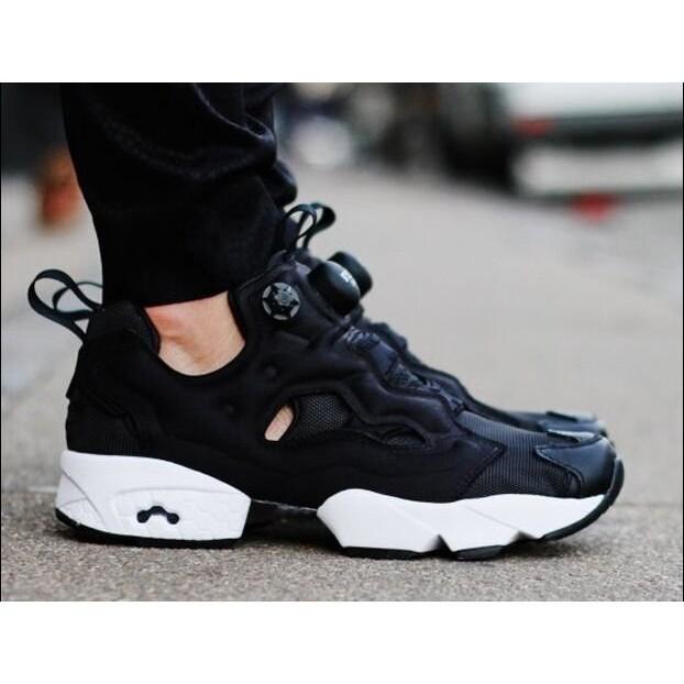 正品REEBOK PUMP FURY OG V65750 黑布充氣放氣鞋籃球鞋