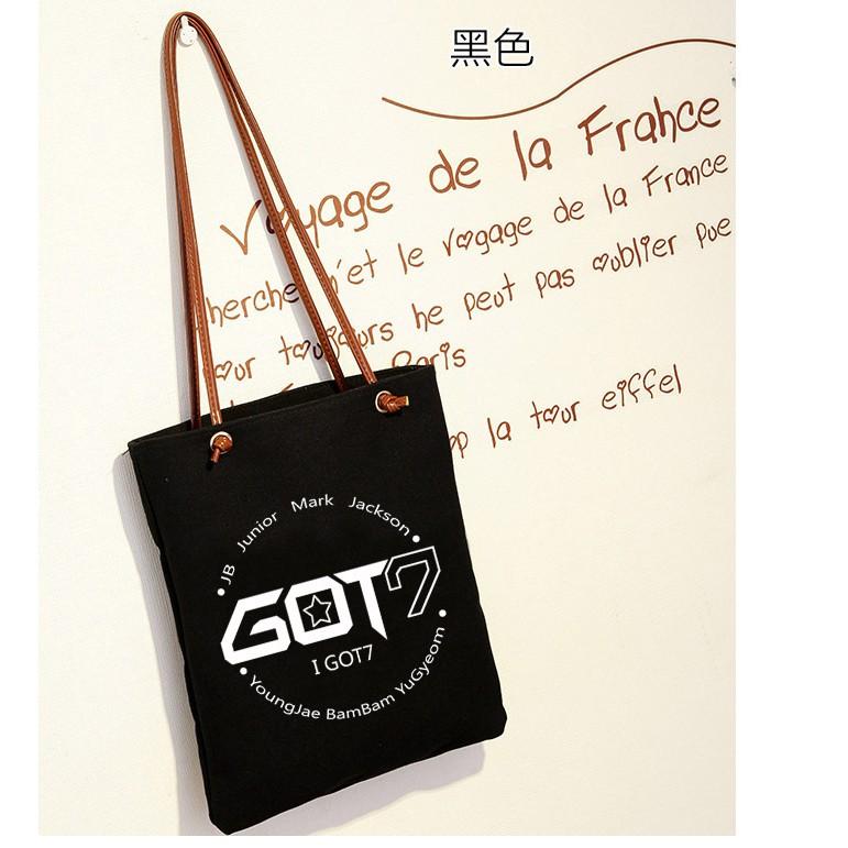 GOT7 同款應援韓國斜跨手提袋單肩帆布包同款行星飯