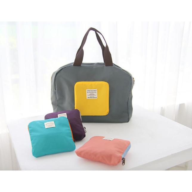 多 折疊式手提單肩包旅行收納包便攜環保 袋衣物整理行李袋