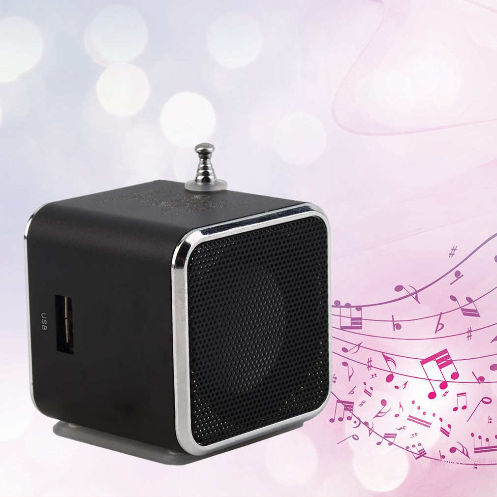 便攜式TF USB 迷你立體聲揚聲器音樂播放器調頻收音機