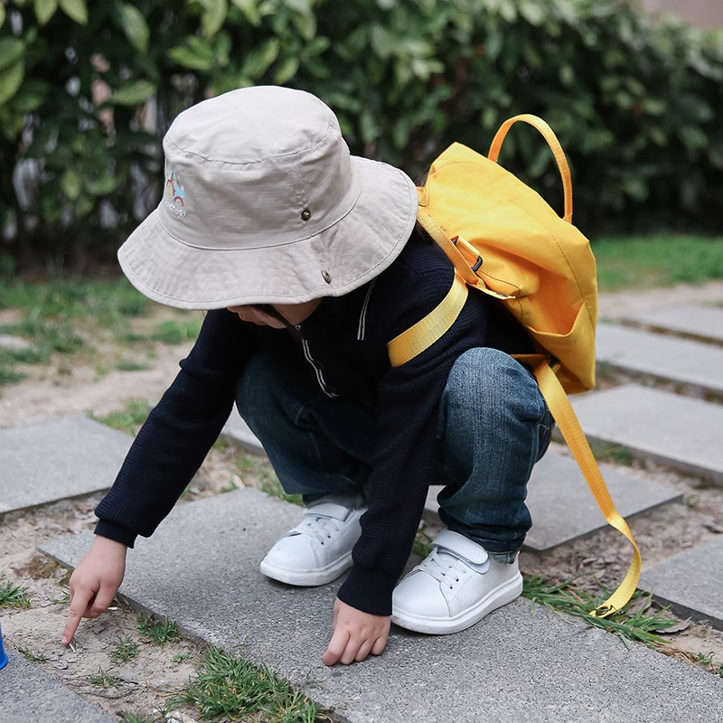 ▫️現 Kids 女童男童可愛 圖防紫外線太陽帽抗UV 遮陽帽漁夫帽防曬帽柔軟透氣兒童