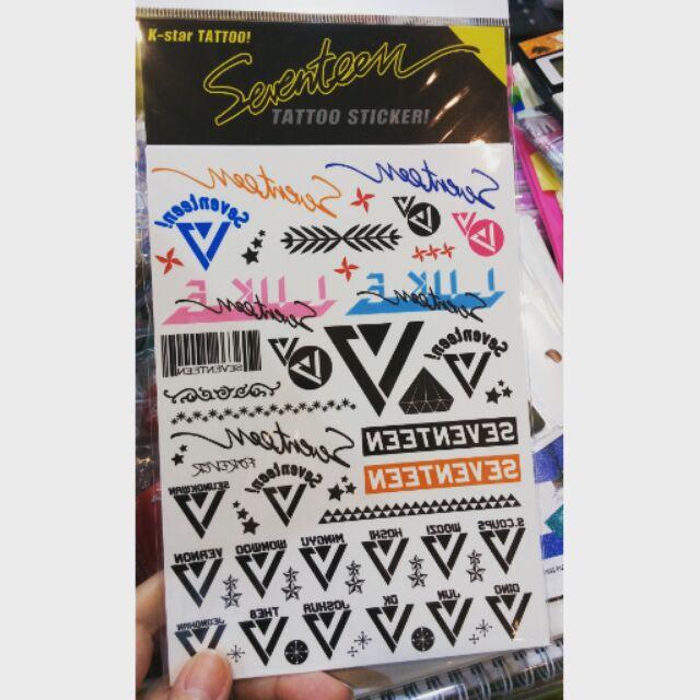 社長大人 SEVENTEEN 韓國紋身貼紙