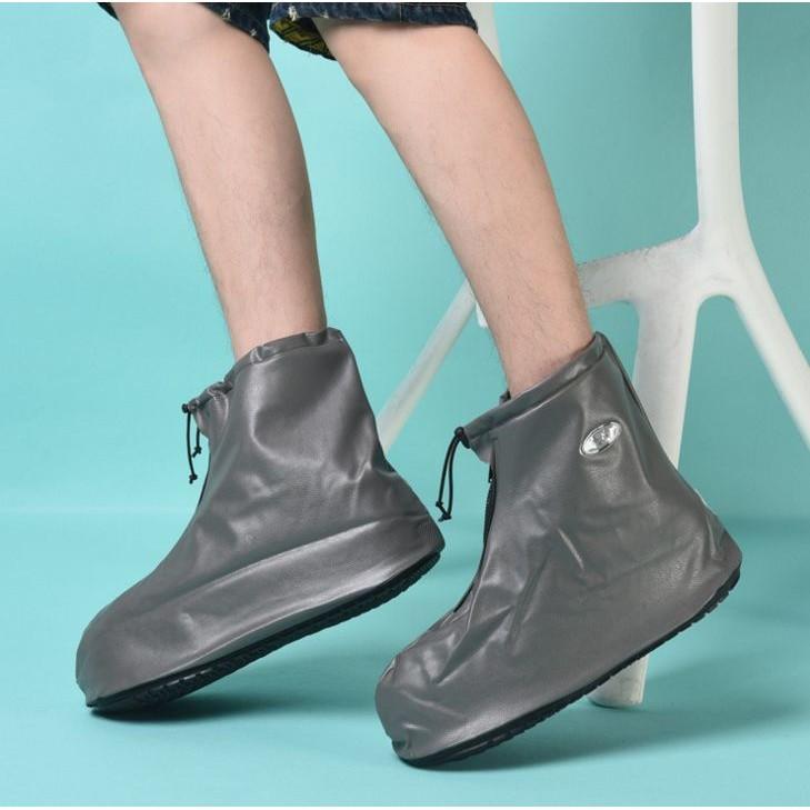 利雨男雨鞋鞋套短筒雨鞋加厚雨鞋套防滑耐磨梅雨全面防水拉鍊方便G0089