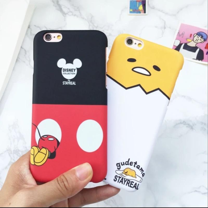 ~Iphone6s plus 潮牌聯名款硬殼米老鼠蛋黃哥手機殼
