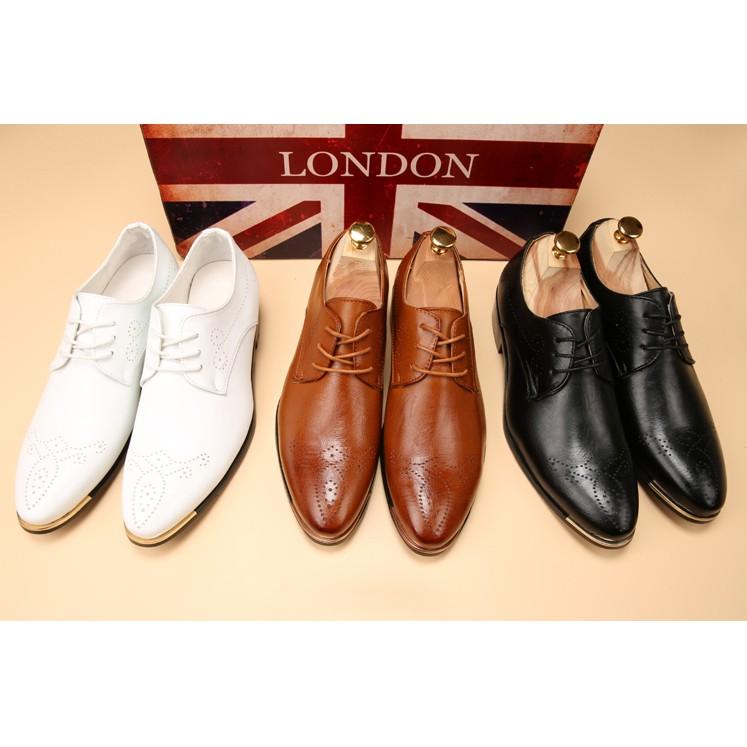 布洛克雕花英倫白色潮流男鞋子真皮 男士休閒鞋美髮師尖頭皮鞋高跟鞋單鞋豆豆鞋涼鞋懶人