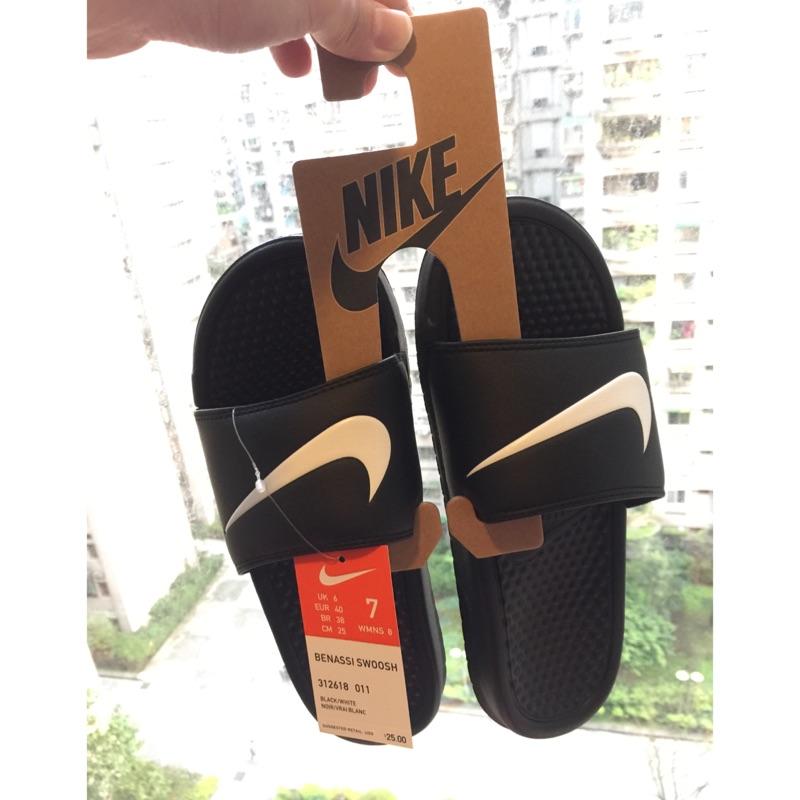 Nike Benassi Swoosh 權誌龍GD 著用312618 011 拖鞋 大勾勾