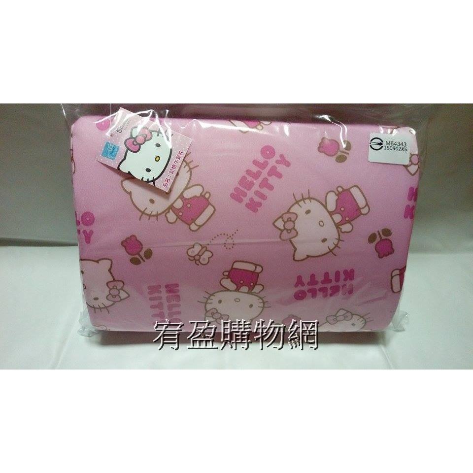 宥盈 網 Hello Kitty 記憶枕幼稚園兒童枕KT 枕頭套可拆洗凱蒂貓蘋果記憶午安枕