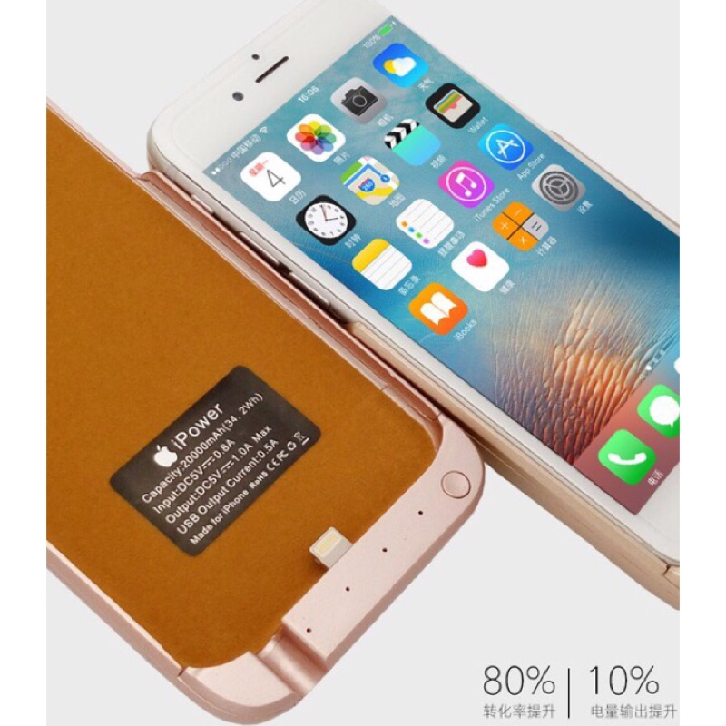 iPhone6s 6s PLUS 無線背蓋夾式10000mAh 行動電源背夾電池手機殼行動