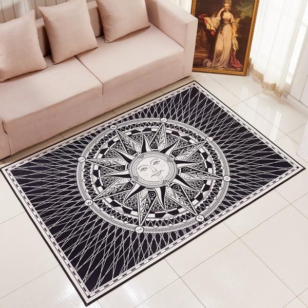 歐式客廳沙發茶几地墊地毯臥室床邊地板墊簡約 玄關門廳可機洗