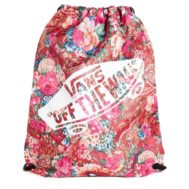 [低於成本 價]美國品牌Vans 蜷川實花風格復古彩色花卉 抽繩後背包