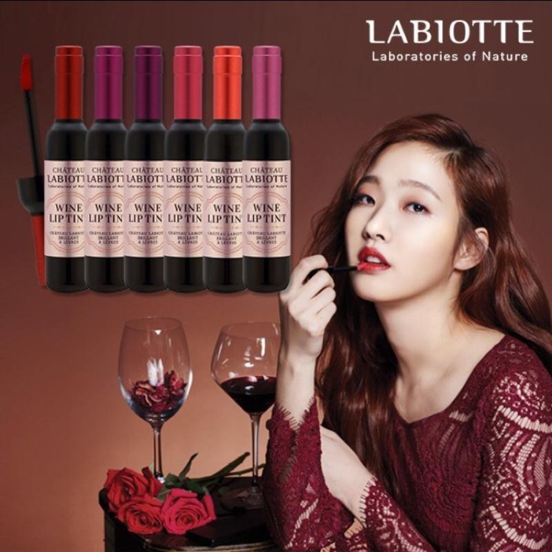 韓國 正品南他宿 到100 韓國正品LABIOTTE 紅酒瓶持久唇釉奶酪陷阱唇膏系列唇蜜盒