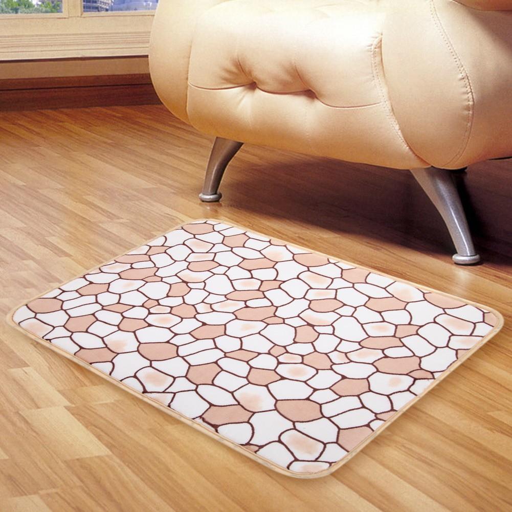 居家裝飾地毯新品加厚超柔珊瑚絨鵝卵石地毯地墊防滑門墊可機洗