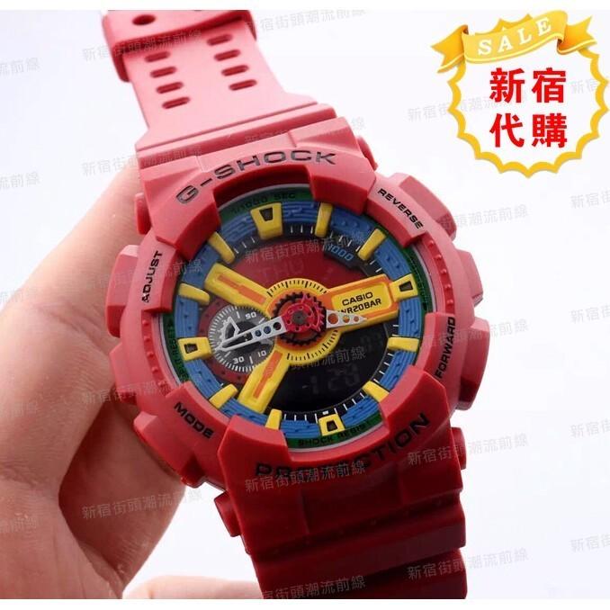 卡西歐GA 110FC 1A 赤紅卡西歐CASIO G SHOCK 防震防水抗磁 手錶型男