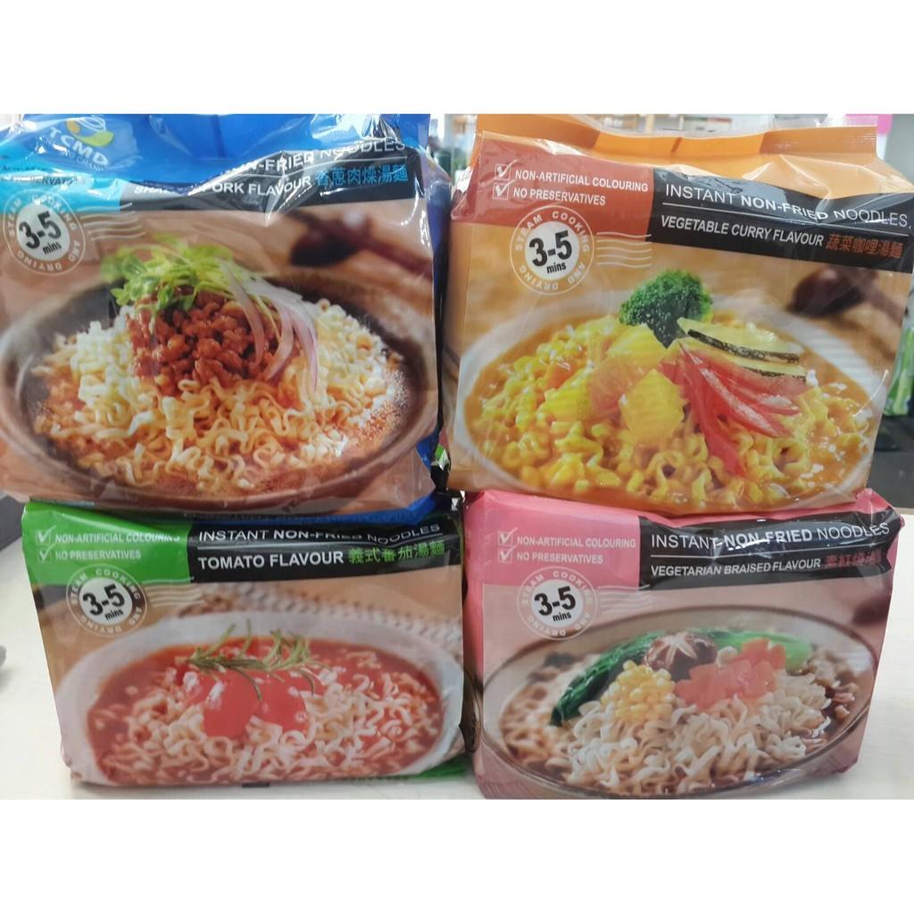 義式蕃茄湯麵蔬菜咖哩湯麵素紅燒湯麵香蔥肉燥湯麵3 5 分鐘方便麵