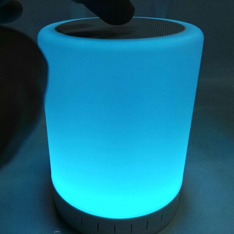 ¥錒彬¥小夜燈露營 藍牙音響手動調亮度觸碰變色超高音質露營 !