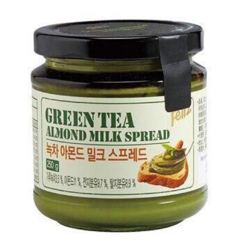 ~Feliz 菲立士~韓國超夯杏仁粒抹茶牛奶醬250g 缶