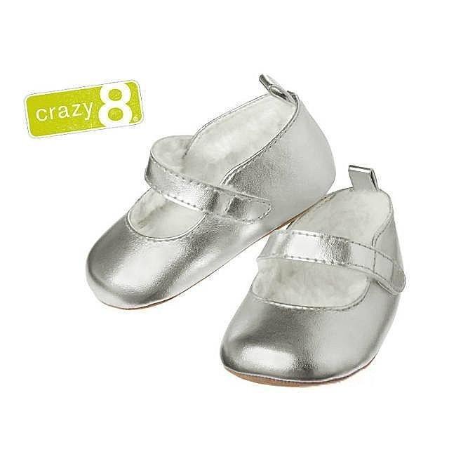 Crazy 8 瑪莉珍內刷毛皮鞋學步鞋娃娃鞋