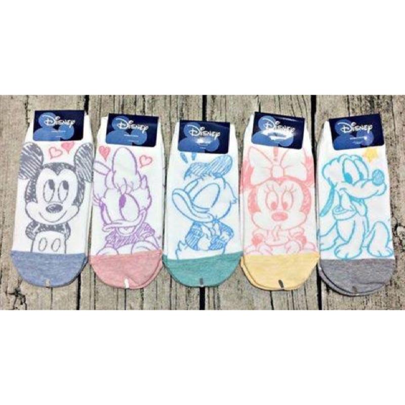 正韓製迪士尼卡通人物短襪(一組5 雙)