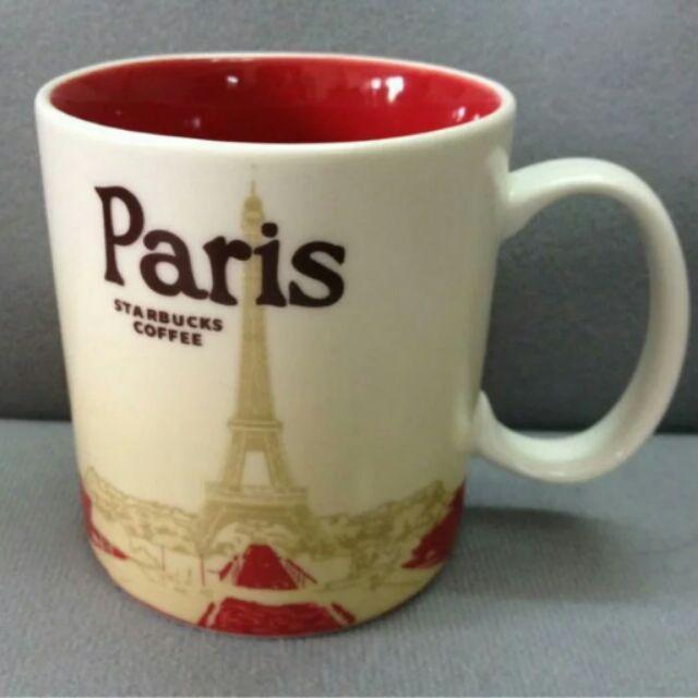 巴黎Paris 星巴克城市杯馬克杯