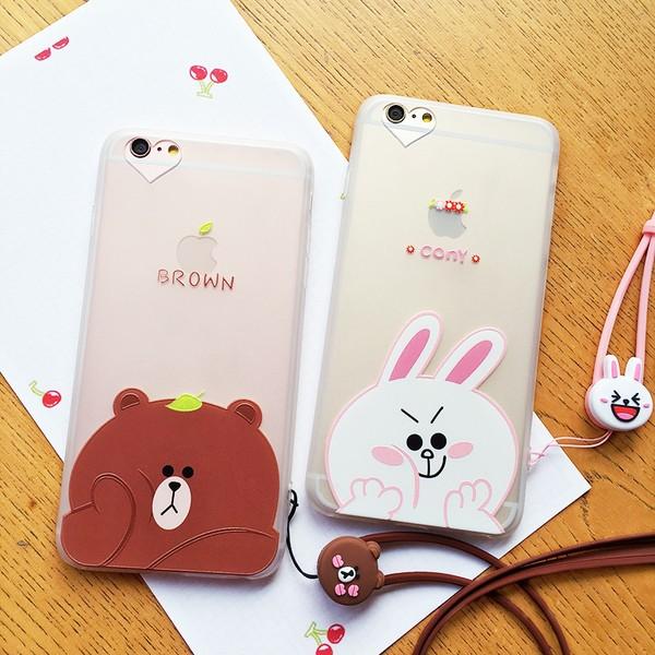 6 ️⃣tpu 磨砂軟殼6 ️⃣Line 大頭情侶iPhone6 6s plus 4 7