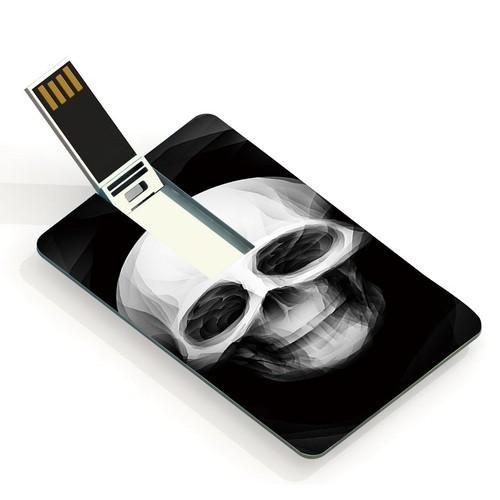 隨身碟超夯卡片 USB 隨身碟卡通頭骨USB 隨身碟USB Flash Drive 4GB